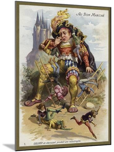 Gulliver Sneezes and Causes a Catastrophe--Mounted Giclee Print
