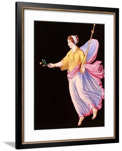 Woman Holding an Olive Branch--Framed Art Print