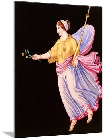 Woman Holding an Olive Branch--Mounted Giclee Print