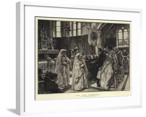 The First Communion--Framed Art Print