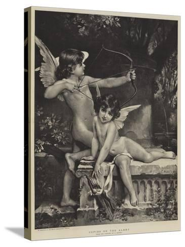 Cupids on the Alert--Stretched Canvas Print