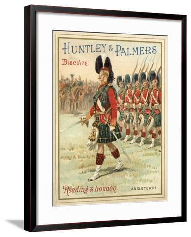 Soldiers of a Highland Regiment on Parade--Framed Art Print