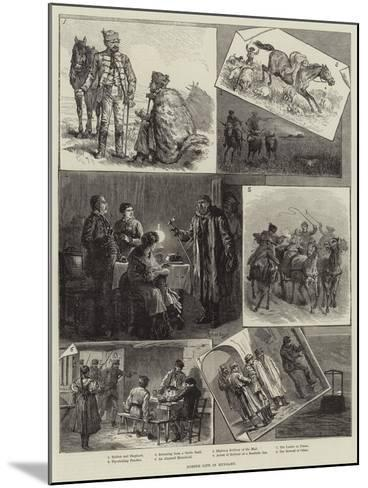 Robber Life in Hungary--Mounted Giclee Print