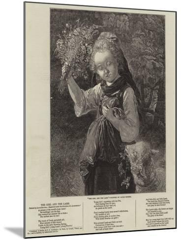 The Girl and the Lamb--Mounted Giclee Print