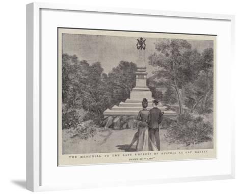 The Memorial to the Late Empress of Austria at Cap Martin--Framed Art Print