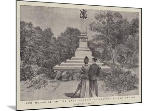 The Memorial to the Late Empress of Austria at Cap Martin--Mounted Giclee Print