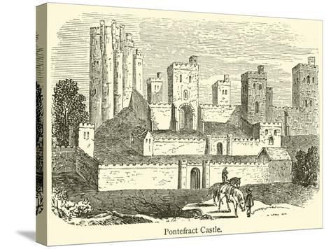 Pontefract Castle--Stretched Canvas Print