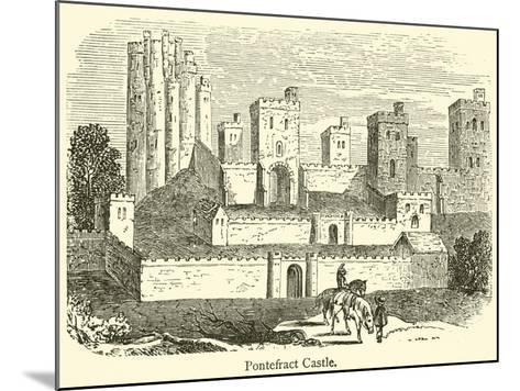 Pontefract Castle--Mounted Giclee Print