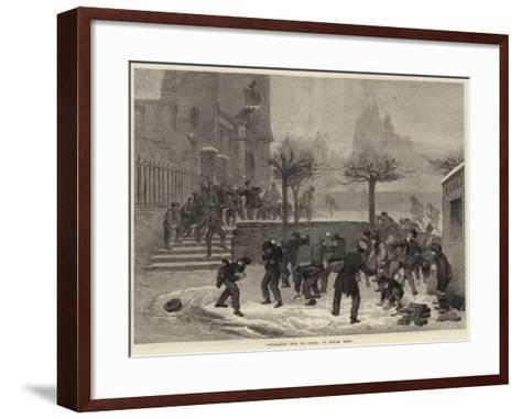 Snowballing--Framed Art Print
