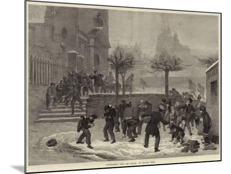 Snowballing--Mounted Giclee Print