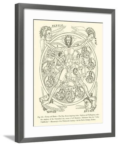 Poetry and Music--Framed Art Print