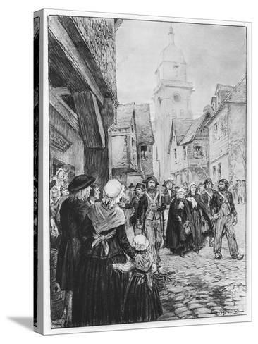 The Arrest of Lucile De Chateaubriand--Stretched Canvas Print