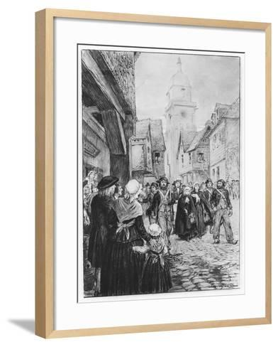 The Arrest of Lucile De Chateaubriand--Framed Art Print