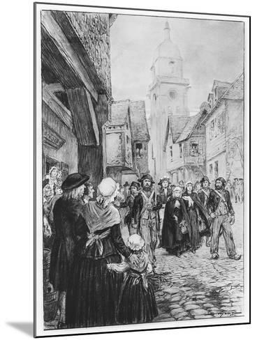 The Arrest of Lucile De Chateaubriand--Mounted Giclee Print