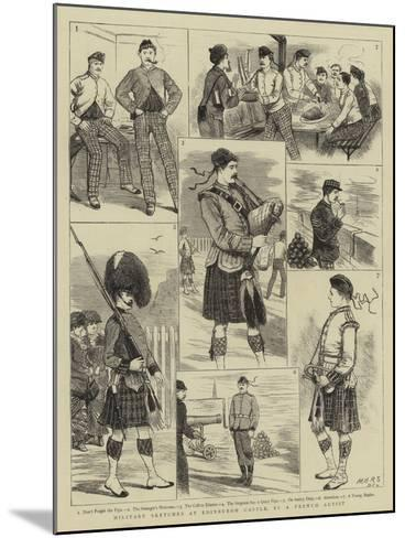 Military Sketches at Edinburgh Castle--Mounted Giclee Print