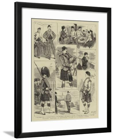 Military Sketches at Edinburgh Castle--Framed Art Print