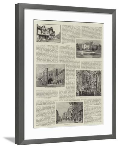 Worcester--Framed Art Print