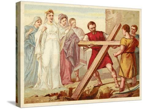 St Helena Discovering the True Cross--Stretched Canvas Print