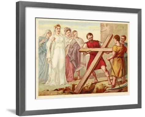 St Helena Discovering the True Cross--Framed Art Print