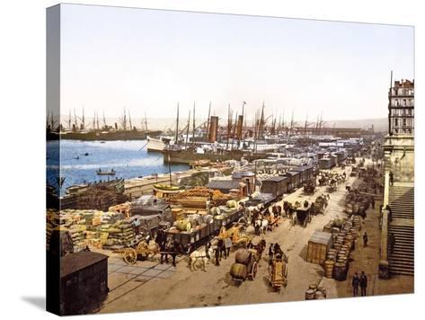 Quai De La Joliette, Marseilles, France, Pub. 1890-1900--Stretched Canvas Print
