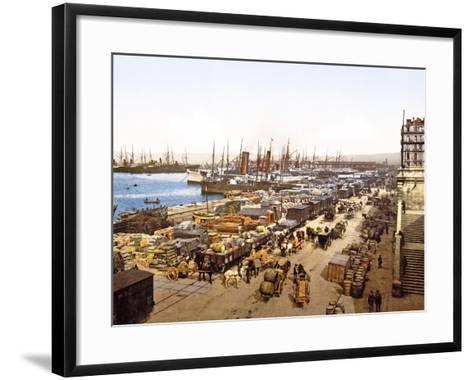 Quai De La Joliette, Marseilles, France, Pub. 1890-1900--Framed Art Print
