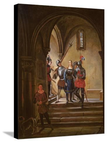 Joan of Arc (1412-31) Led to Prison--Stretched Canvas Print
