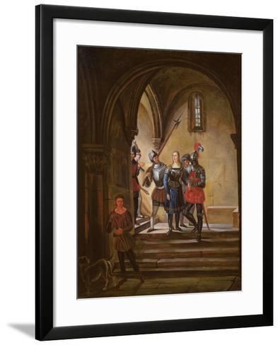 Joan of Arc (1412-31) Led to Prison--Framed Art Print