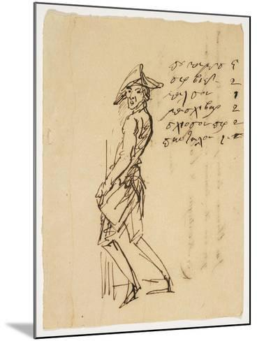 Caricature of a Young Soldier, 1809--Mounted Giclee Print
