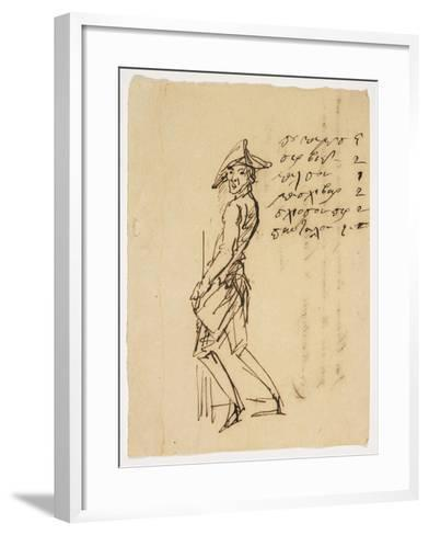 Caricature of a Young Soldier, 1809--Framed Art Print