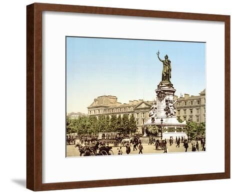 Place De La Republique, Paris, Pub. 1900--Framed Art Print