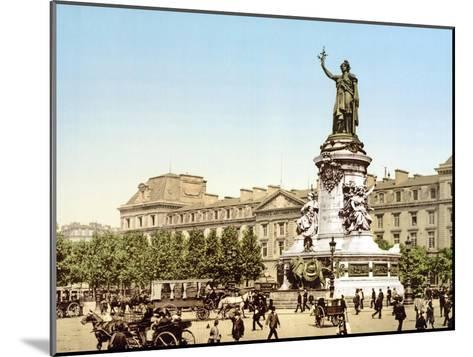 Place De La Republique, Paris, Pub. 1900--Mounted Giclee Print