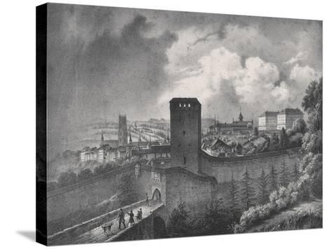 Fribourg in Switzerland, View of the Porte De Morat--Stretched Canvas Print