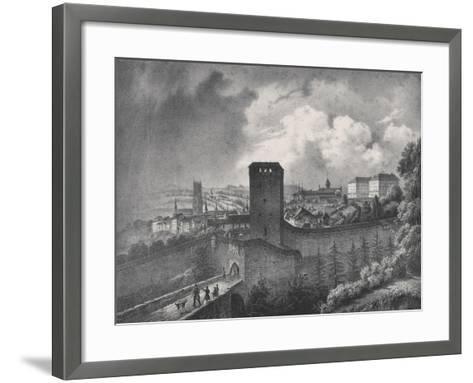 Fribourg in Switzerland, View of the Porte De Morat--Framed Art Print