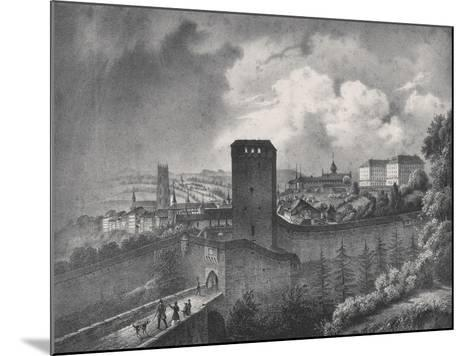 Fribourg in Switzerland, View of the Porte De Morat--Mounted Giclee Print