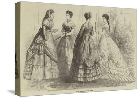 Paris Fashions for June--Stretched Canvas Print