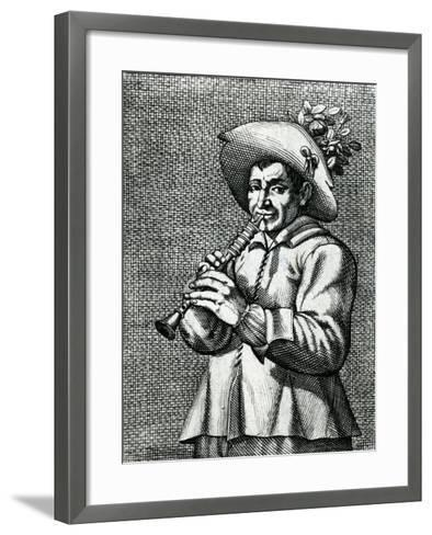 French Musician--Framed Art Print