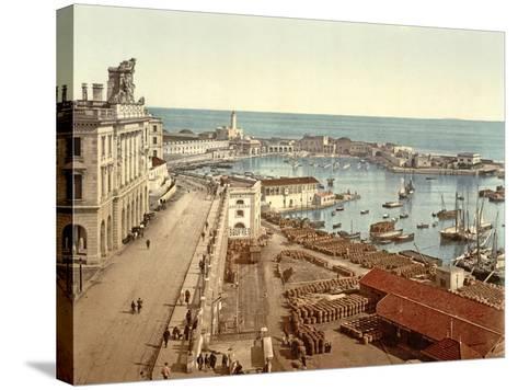The Harbour at Algiers, Pub. C.1900--Stretched Canvas Print