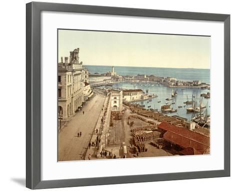 The Harbour at Algiers, Pub. C.1900--Framed Art Print
