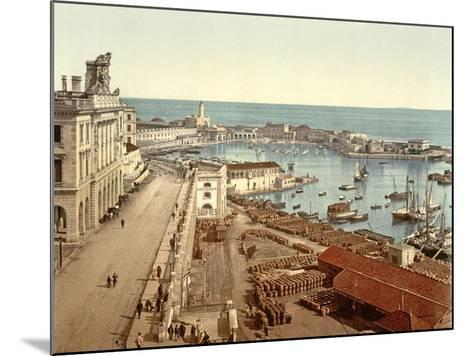 The Harbour at Algiers, Pub. C.1900--Mounted Giclee Print