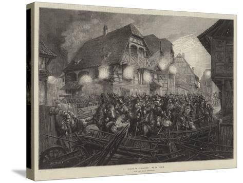 A Charge of Cuirassiers, from the Paris Exhibition--Stretched Canvas Print