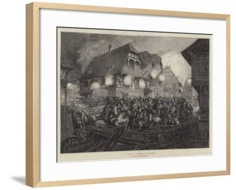 A Charge of Cuirassiers, from the Paris Exhibition--Framed Art Print
