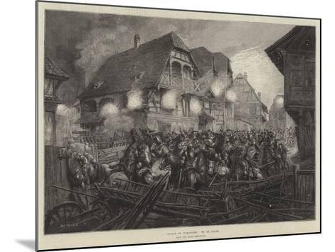 A Charge of Cuirassiers, from the Paris Exhibition--Mounted Giclee Print