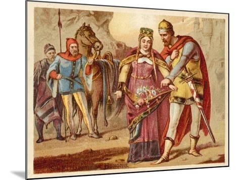 St Elizabeth of Hungary--Mounted Giclee Print