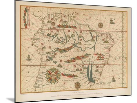 Map of America--Mounted Giclee Print
