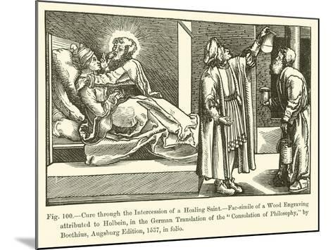 Cure Through the Intercession of a Healing Saint--Mounted Giclee Print