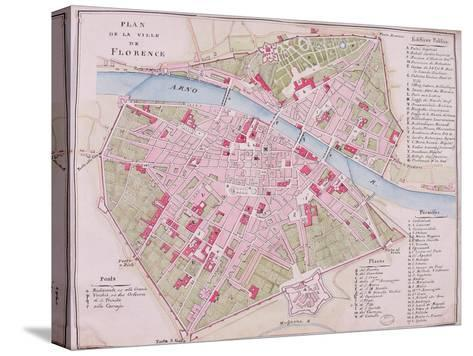 Map of the Town of Florence, 1812--Stretched Canvas Print
