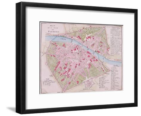 Map of the Town of Florence, 1812--Framed Art Print