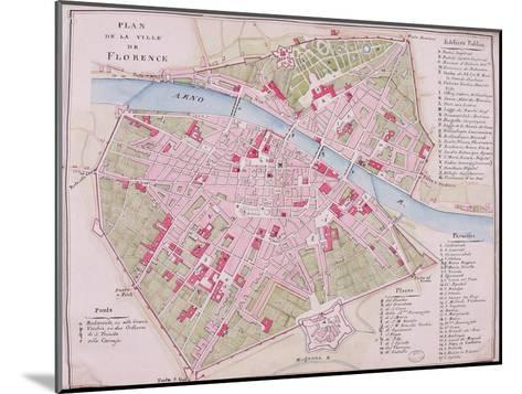 Map of the Town of Florence, 1812--Mounted Giclee Print