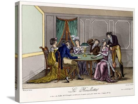 La Bouillotte, C.1810--Stretched Canvas Print