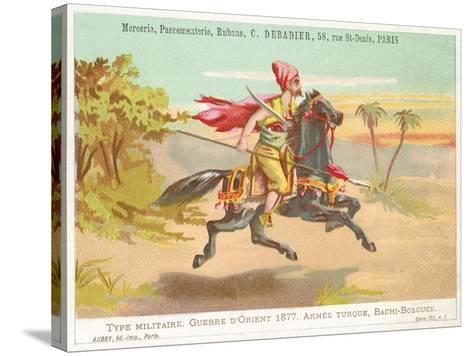 Turkish Bashi-Bazouk, Russo-Turkish War, 1877--Stretched Canvas Print